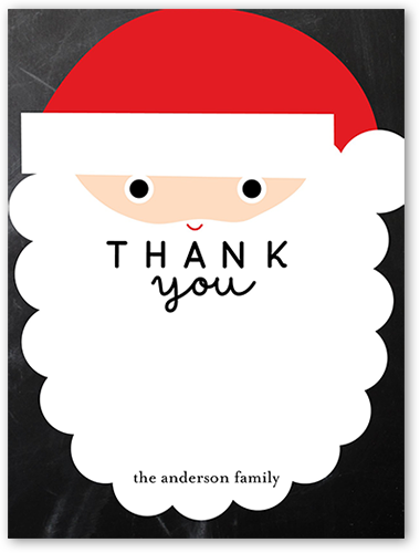 Santa Party Thank You Card, Square