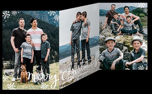 Jubilant Snowfall Collage Holiday Card