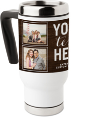 your own words travel mug with handle