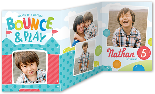 Bounce And Play Birthday Invitation, Square