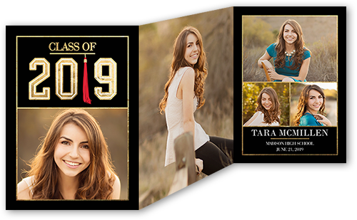 fantastic tassel collage graduation announcement - Tri Fold Graduation Invitations