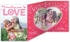 lovely doodles valentines card 5x7 trifold