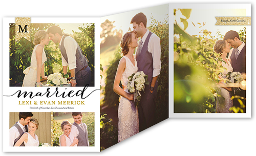 sparkling union wedding announcement - Shutterfly Wedding Invitations