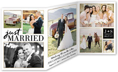 these are the moments wedding announcement 5x7 trifold