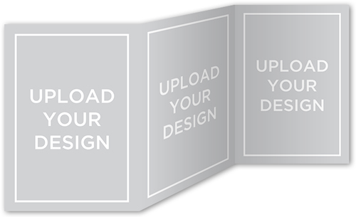 Upload Your Own Design 5X7 Tri-Fold Stationery Card By Yours Truly