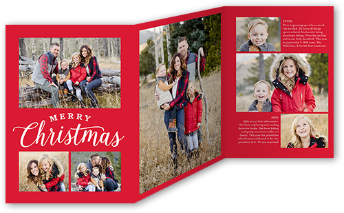Shutterfly Christmas Cards.Merry Greetings Grid 5x7 Tri Fold Christmas Cards Shutterfly