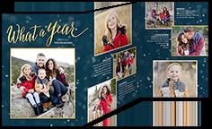 festive bokeh new years card 5x7 trifold