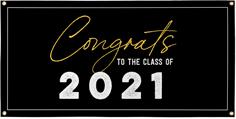 congrats class of vinyl banner