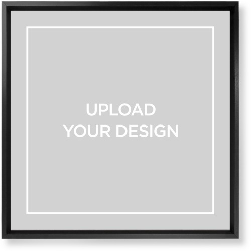 Upload Your Own Design Mounted Wall Art, Single piece, Black, 16 x 16 inches, Multicolor