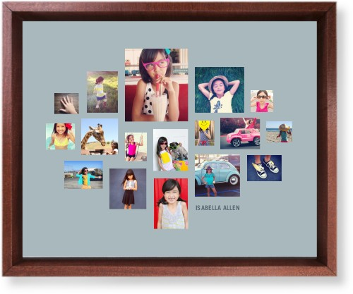Gallery Collage of Seventeen Mounted Wall Art, Single piece, Brown, 8 x 10 inches, Multicolor