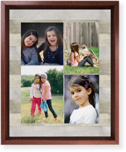 Overlap Photo Gallery of Four Mounted Wall Art, Single piece, Brown, 8 x 10 inches, Multicolor