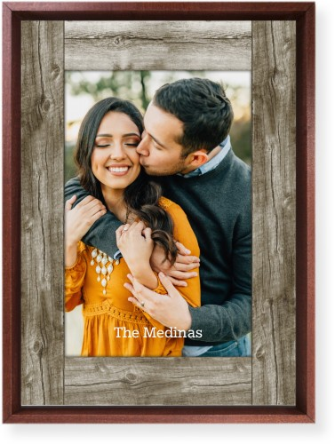 Wood Photo Real Mounted Wall Art, Single piece, Brown, 10 x 14 inches, Beige