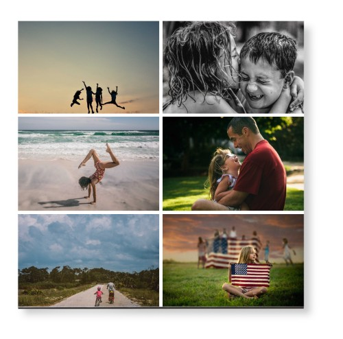 Gallery of Six Mounted Wall Art, Single piece, None, 12 x 12 inches, Multicolor