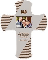 modern dad wall cross