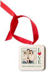 heart love wooden ornament