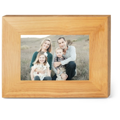 Make Your Own Statement Wood Frame, - No photo insert, 9x7 Engraved Wood Frame, White