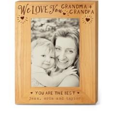 hearts full grandparents - Wooden Photo Frames
