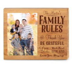 family rules - Wood Photo Frames