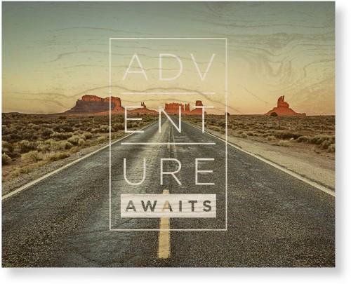 Adventure Awaits Wood Wall Art, Single piece, 16 x 20 inches, White