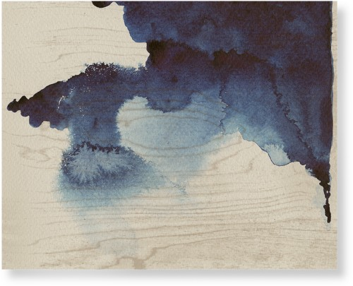 Blue Ink Blot Wood Wall Art, Single piece, 16 x 20 inches, Multicolor