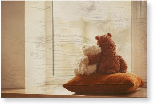 Bear Friends Wood Wall Art, Single piece, 20 x 30 inches, Multicolor