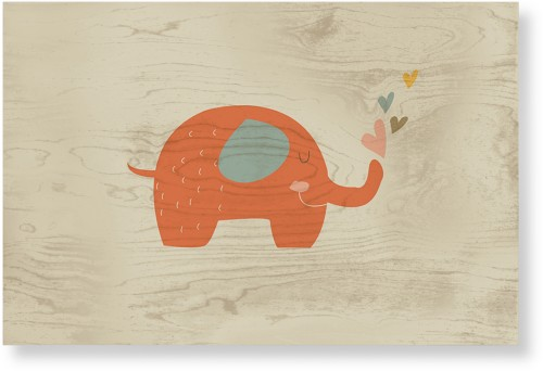 Heart Elephant Wood Wall Art, Single piece, 20 x 30 inches, Multicolor
