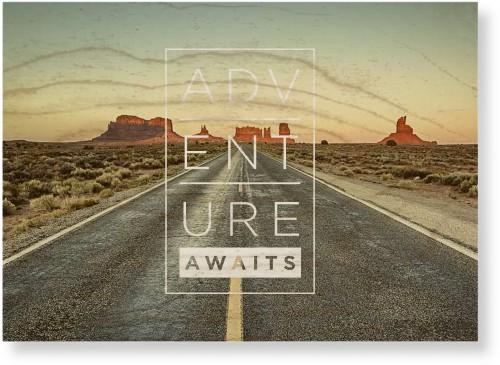 Adventure Awaits Wood Wall Art, Single piece, 10 x 14 inches, White