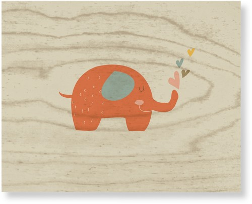 Heart Elephant Wood Wall Art, Single piece, 8 x 10 inches, Multicolor