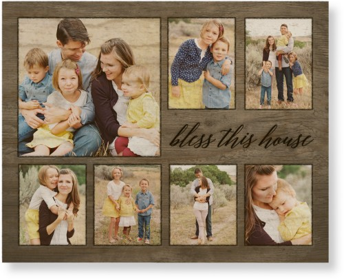 Bless This House Wood Wall Art, Single piece, 8 x 10 inches, Beige