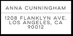 sparkling spots address label