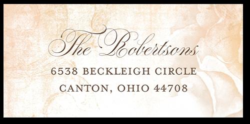 Precious Peonies Address Label