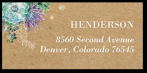 Splendid Succulent Address Label