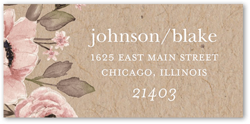 Delightful Blooms Address Label