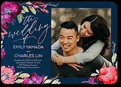 gilded flowers wedding invitation