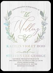 wedding crest wedding invitation