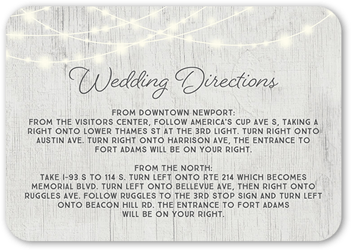 Glowing Ceremony Wedding Enclosure Card