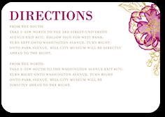 floral fringe wedding enclosure card