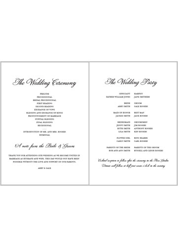 simply watercolor 5x7 folded wedding program by lady jae shutterfly