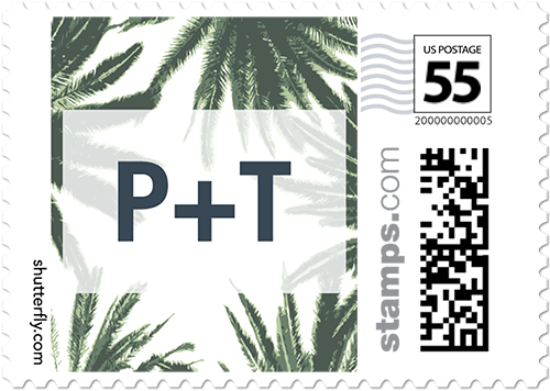 Adorned Frame Palms Custom Postage Stamps   Shutterfly