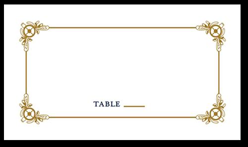 Gilded Scrollwork Wedding Place Card