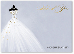 exquisite bride thank you card