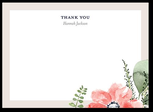 bridal bouquets 5x7 wedding thank you card