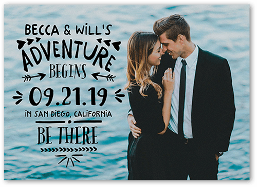 Adventure Together Save The Date, Square Corners