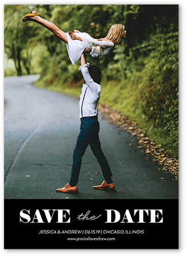 Clean Announcement Save The Date, Square