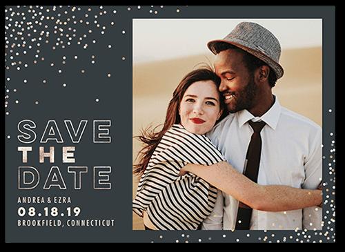 Festive Date Save The Date, Square Corners