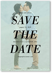 focused on love save the date