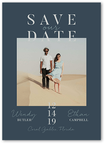 Modish Date Save The Date, Square Corners