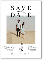 modish date save the date