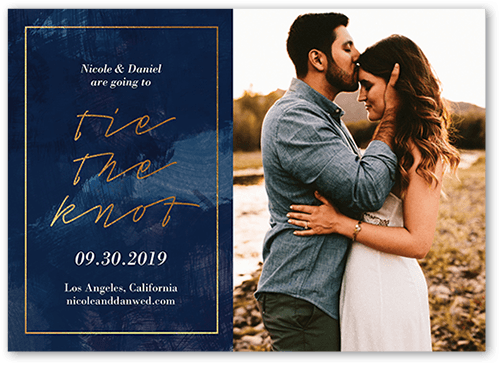 Romantic Affair Save The Date, Square Corners