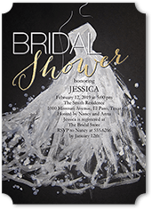 sequin splash bridal shower invitation